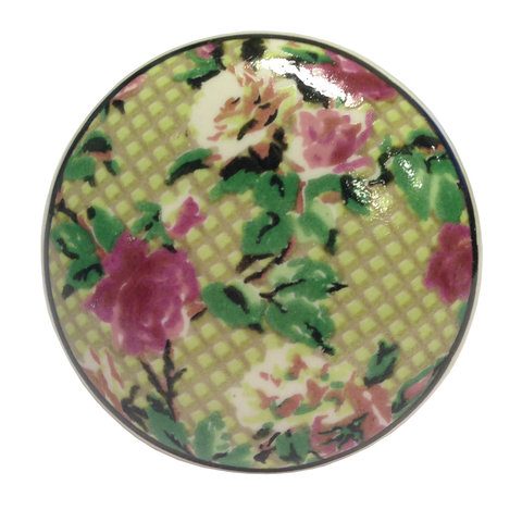 La Finesse kastknopje rozen groen/roze