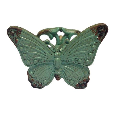 La Finesse deurknop vlinder blauw