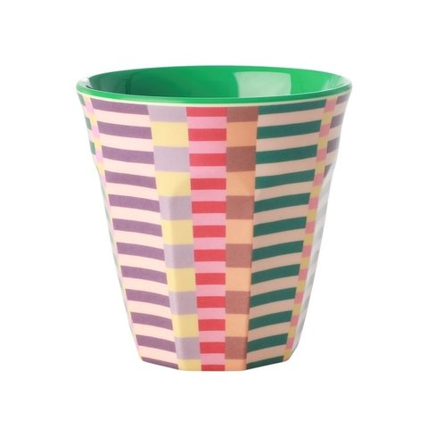 Rice melamine beker Summer Stripes print