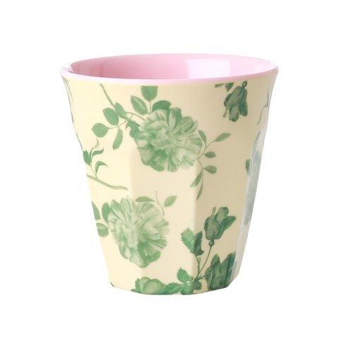 Rice melamine beker bloemen Green Rose print