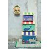 Rice speelgoedmand huis dieren Animal Print extra groot