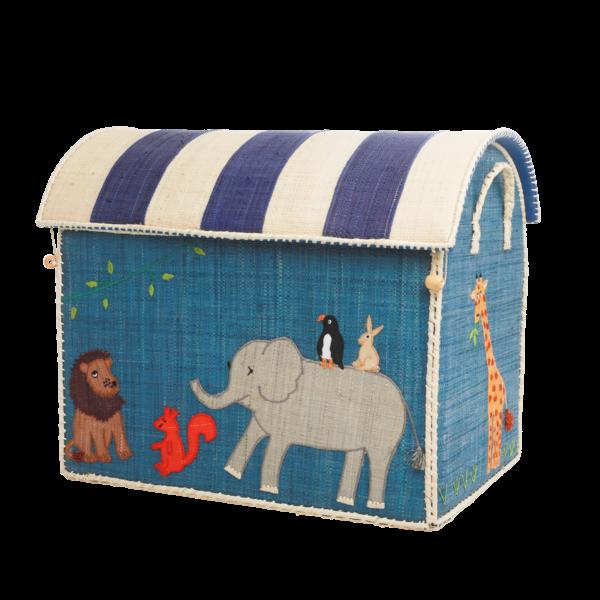 rice Denmark Rice speelgoedmand huis dieren Animal Print extra groot