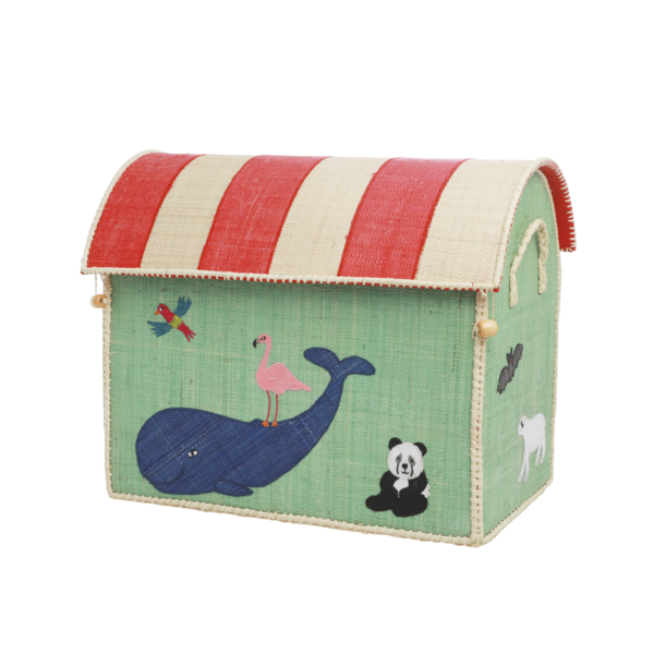 rice Denmark Rice speelgoedmand huis dieren Animal Print groot