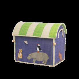 rice Denmark Rice speelgoedmand  dieren Animal Print middelgroot