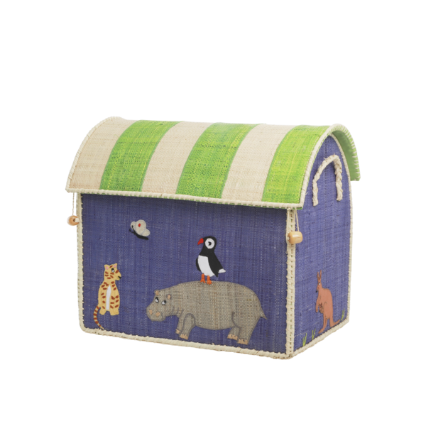 rice Denmark Rice speelgoedmand huis dieren Animal Print middelgroot