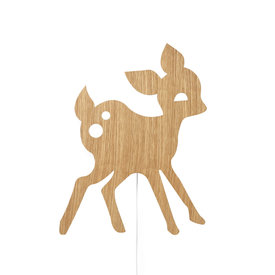 Ferm Living Kids Ferm Living wandlamp bambi my deer Oiled Oak