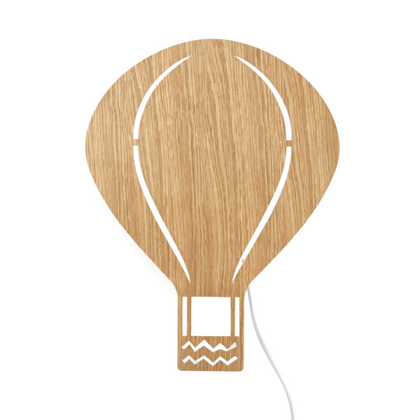 Ferm Living Kids Ferm Living wandlamp kinderkamer ballon Oiled Oak