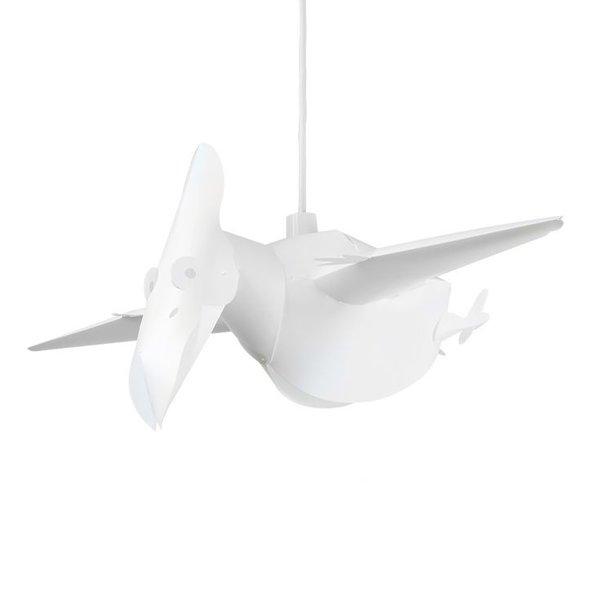 Kinderlamp vliegende dinosaurus wit