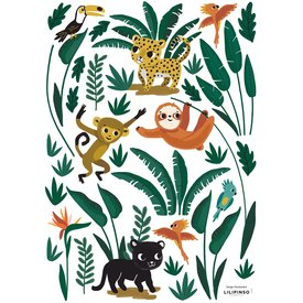 Lilipinso Lilipinso muursticker jungle dieren