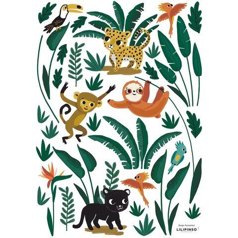 Lilipinso muursticker jungle dieren