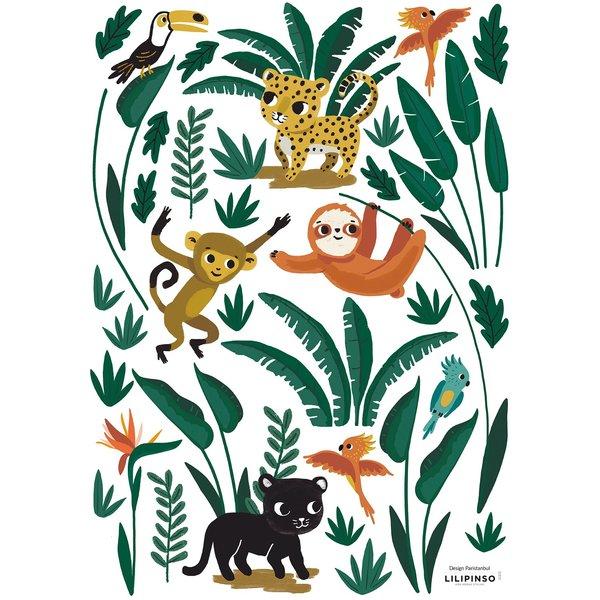 Lilipinso Lilipinso muursticker kinderkamer jungle dieren