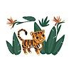 Lilipinso muursticker kinderkamer tijger