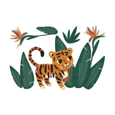 Lilipinso muursticker tijger