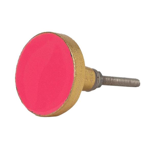 Bombay  Duck Bombay Duck deurknop Bertie flamingo roze met gouden rand
