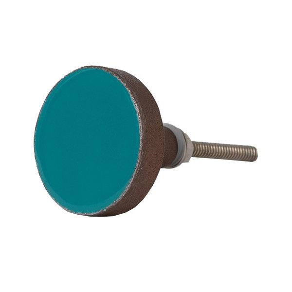 Bombay  Duck Bombay Duck deurknop Bertie turquoise met koperen rand
