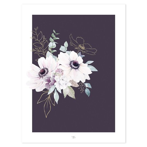 Lilipinso poster bloemen Anemonen