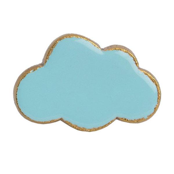 Bombay  Duck Bombay Duck deurknop wolk lichtblauw met gouden rand