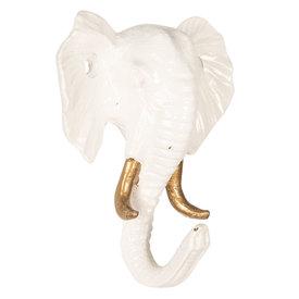 Clayre & Eef Clayre en Eef kapstokje olifant wit