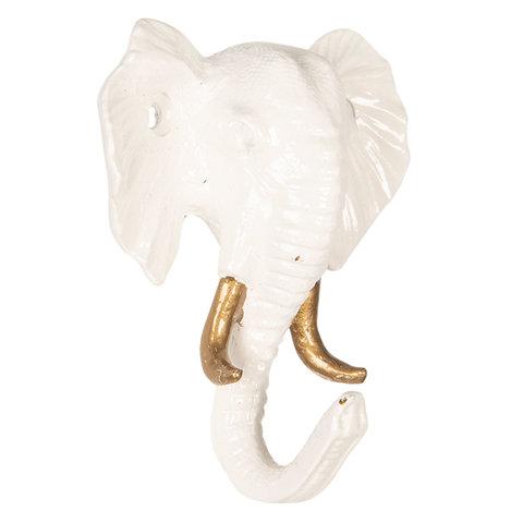 Clayre en Eef kapstokje olifant wit