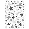 Lilipinso muursticker kinderkamer sterren grijs & zwart