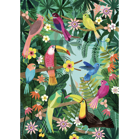 Petit Monkey Petit Monkey kinderposter Rainforest Birds