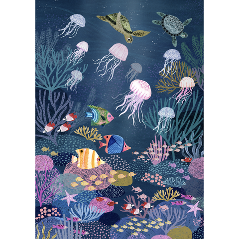 Petit Monkey kinderposter zee Coral Reef