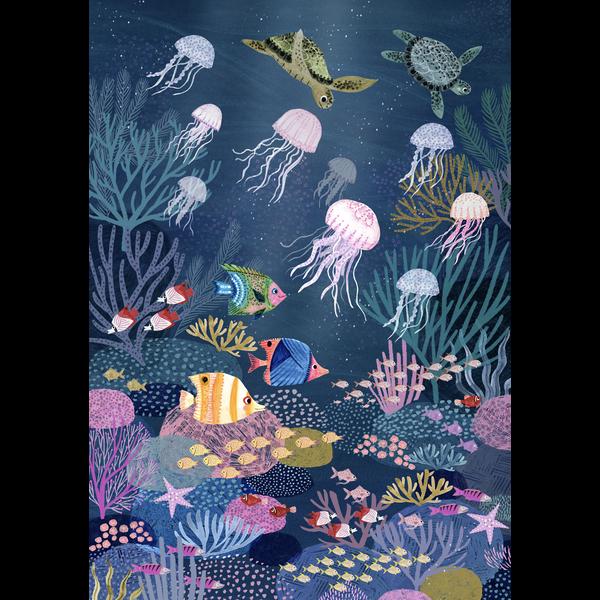 Petit Monkey Petit Monkey kinderposter 50 x 70 Zee Coral Reef