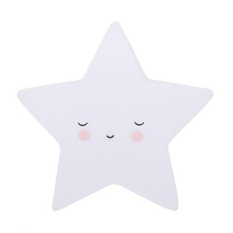 A Lovely Little Company nachtlampje slapende ster wit