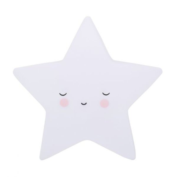 A Lovely Little Company A Lovely Little Company nachtlampje slapende ster wit