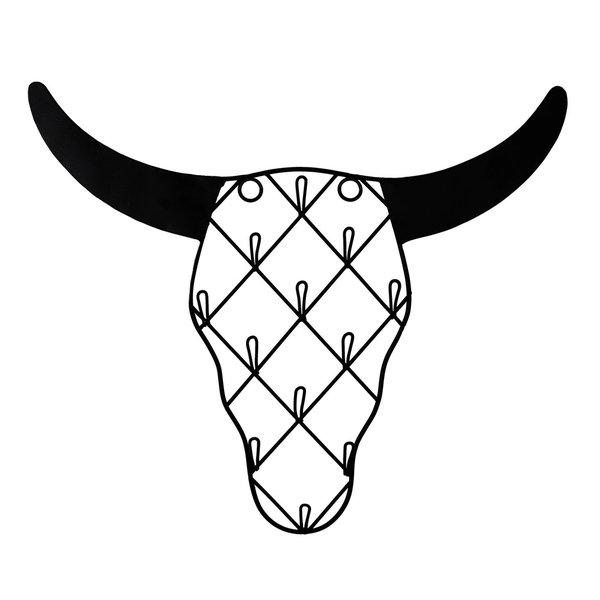 Sass & Belle Sass & Belle wandrekje sieraden buffel schedel zwart