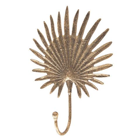 Clayre en Eef kapstokje blad goud/brons