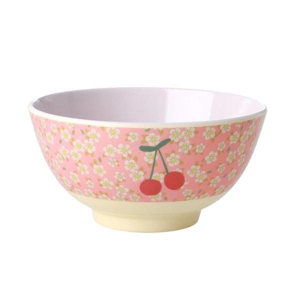 rice Denmark Rice melamine kom Cherry and Flowers print