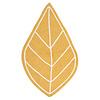 Lilipinso kindervloerkleed blad Autumn Leaf mosterd geel