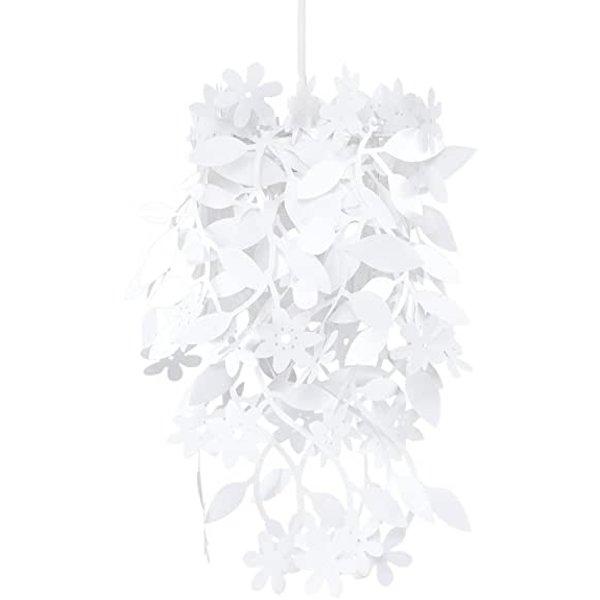 Kinderlamp bloemen wit