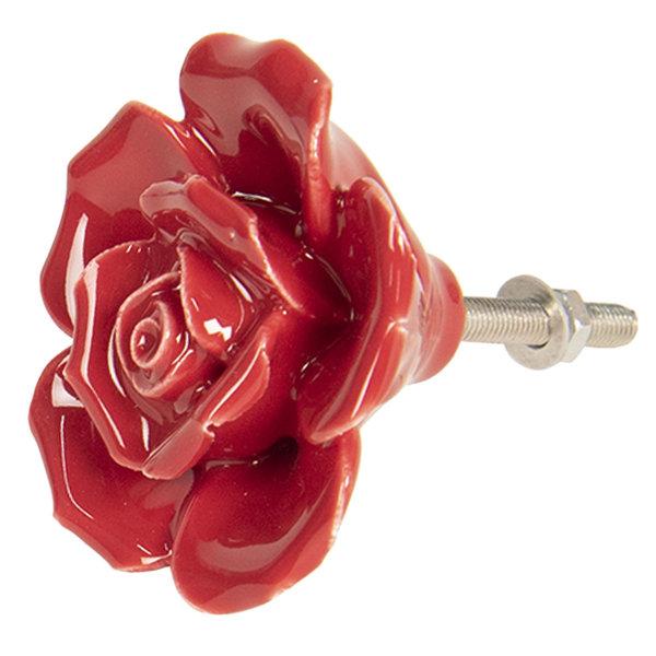 Clayre & Eef Clayre & Eef deurknop bloem roos rood