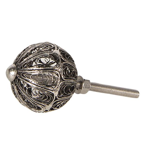 Clayre & Eef Clayre & Eef deurknopje zilver draadgevlecht rond