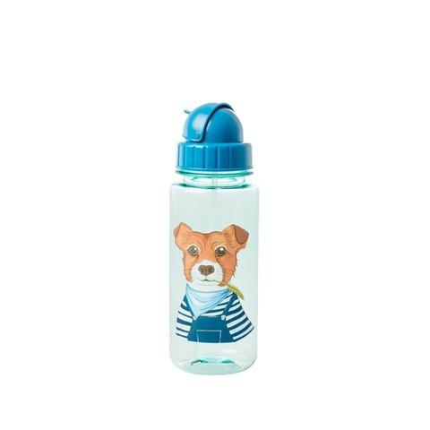 Rice drinkfles  hond blauw