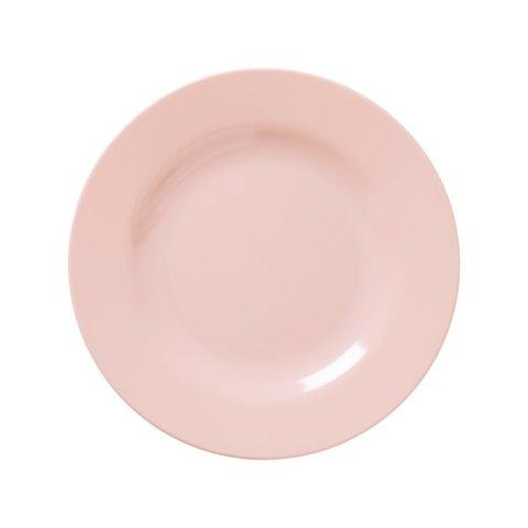 Rice melamine bord lichtroze