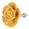 Deurknopje bloem roos oker geel