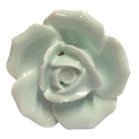 Clayre & Eef Deurknopje bloem roos lichtgroen