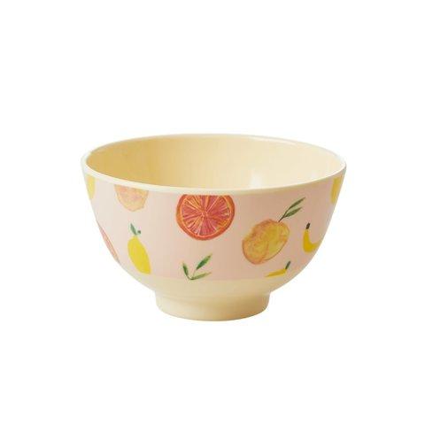 Rice melamine schaaltje fruit Happy Fruits print klein