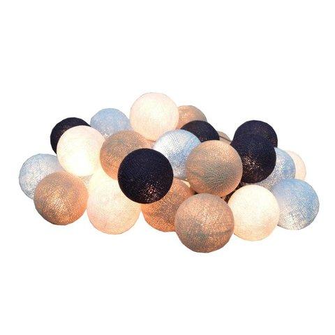 Cotton Ball Lights lichtslinger sailor blauw  USB