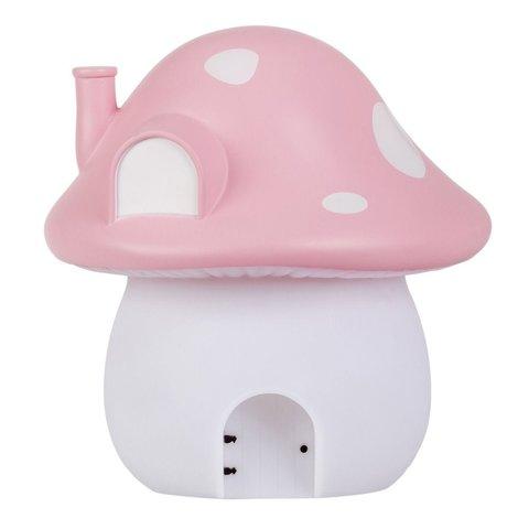 A Lovely Little Company nachtlamp paddenstoel roze