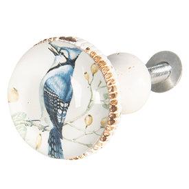 Clayre & Eef Clayre & Eef deurknopje vogel blauw