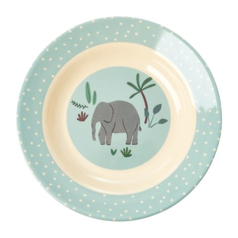 Rice melamine diep bord jungle olifant