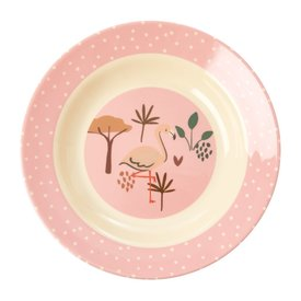 rice Denmark Rice melamine diep bord jungle flamingo