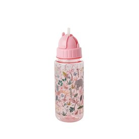 Rice drinkfles jungle print roze
