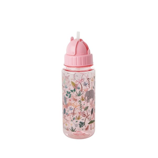 Rice drinkbeker jungle print roze