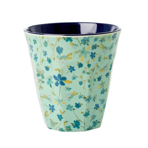 Rice melamine beker bloemen Blue Floral print