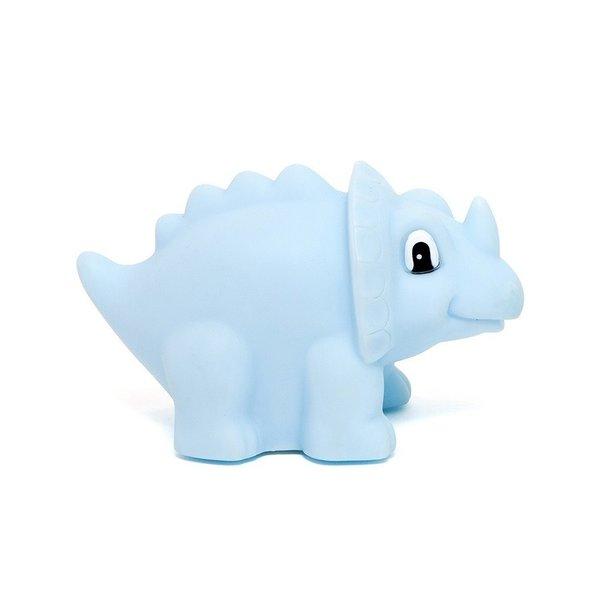 Petit Monkey Petit Monkey nachtlampje dino Triceratops lichtblauw
